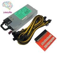 1200W Miner Power Supply DPS-1200FB PSU Ethereum APW3 BTC Asic
