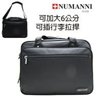 58-603【NUMANNI 奴曼尼】尼龍配皮三用式公事包(可加大)