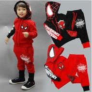 現貨 兒童童裝蜘蛛俠套裝 聖誕節服飾 超級英雄衣服 cosplay鋼鐵蜘蛛人  男童蜘蛛俠衛衣連帽卡通套裝
