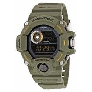 【換日線】CASIO GW9400-3CR G-Shock數字錶盤綠色樹脂男士手錶
