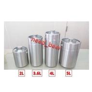 自釀好物--5L家用專業級全新小keg啤酒可樂桶氮氣咖啡