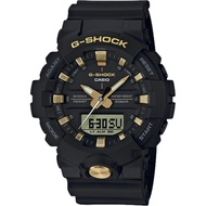 CASIO 卡西歐 G-SHOCK 黑金雙顯手錶-金色/48.6mm(GA-810B-1A9)