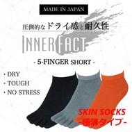 INNER-FACT(內部事實)SKIN SOCKS(厚度偏淡)5部手指短長(踝骨長)短襪男性人禮物贈答禮物2908-507跟踪跑步·超馬拉松·鐵人拉力賽 glanage