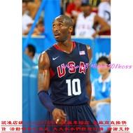 原廠公司貨NBA球衣 美國隊奧運會球衣 夢八#10號 KOBE BRYRNT柯比 科比 刺繡 夢之隊籃球衣 深藍