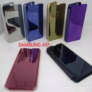 Clear View Samsung A51 Flip Cover Standing Cover Samsung A51 Mirror Case
