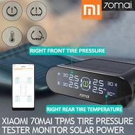 Xiaomi 70mai TPMS Tire Pressure Tester Monitor Solar Power Dual USB Charging 4 Built-in Sensors Syst