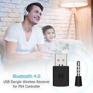 [OTICLESG] 3.5mm Bluetooth 4.0 Dongle USB Adapter Receiver for PS4 Controller Gamepad