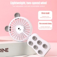 Mini USB Game Fan Suction Cup Phone Bracket Cooler with Night Light USB Charging Folding Fan