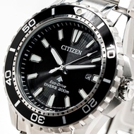 【CITIZEN 星辰】Eco-Drive 黑水鬼時尚光動能運動腕錶(BN0190-82E)