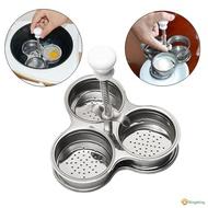 Multi-Function Microwave Egg Poachers Cooker Stainless Steel Boiler Steamer Tool