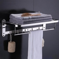 【F.O.S.O】304不鏽鋼多功能毛巾置物架(/壁掛架/不鏽鋼架/浴巾架)
