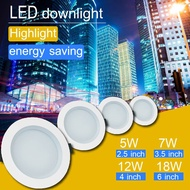 "LED Downlight 12W 18W 7W 5W Round 4"" 6'' 3.5"" 2.5"" Recessed Down Light Daylight Ceiling Room [2 Year Warranty]"