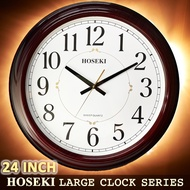 HOSEKI JUMBO Wall Clock Series H-8329 H-8526 Large Size (48-60cm) Big Wall Clock Large Number and Designed Frame Case