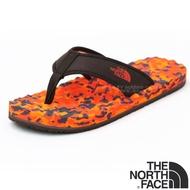 【美國 The North Face】男款 BASE CAMP FLIP-FLOP 輕量人字夾腳拖鞋.海灘鞋.人字拖 ABPE 迷彩橘 N