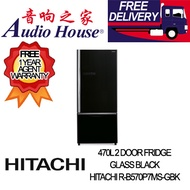 HITACHI R-B570P7MS-GBK 470L 2 DOOR FRIDGE ***1 YEAR HITACHI WARRANTY***