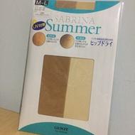 GUNZE SABRINA Summer UV對策 膚色絲襪M-L