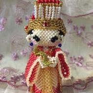 串珠 大頭娃娃 媽祖 擺飾可加鑰㔭圈或吊飾