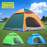 1~4 Person Outdoor Portable Anti-UV Ultralight Folding Tent Waterproof Hiking Camping Tent Automatic Open Sun Shade Camp