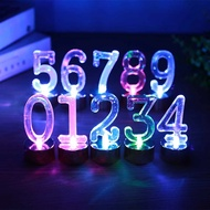 LED Candle 0-9 Number Light Automatic Change Lamp Flamless Holiday Birthday Deor Gift for Child Reusalbe Enviromental