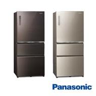 Panasonic國際牌 610公升 玻璃 三門 電冰箱 NR-C611XGS-贈SP-2015不鏽鋼雙面砧版+6吋陶瓷刀+全家商品卡1000元