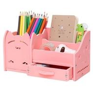多功能筆筒創意時尚韓國小清新學生可愛兒童桌面擺件小收納盒辦公