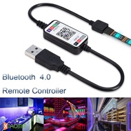 Wireless 5-24V RGB LED Strip Light Controller USB Cable Bluetooth 4.0 Xmm