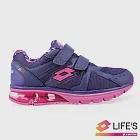 LOTTO 義大利 女 DELL氣墊健走鞋-US6紫
