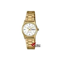 Casio นาฬิกาข้อมือผู้หญิง สายสแตนเลส สีทอง -Vclikz ของแท้ รับประกันเครื่อง 1 ปี