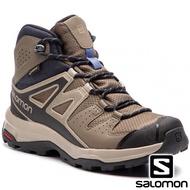 【SALOMON 法國】女 X RADIANT GTX 中筒登山鞋『繩索棕 復古 卡其絲絨』406746