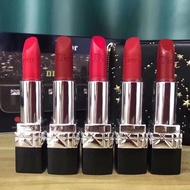 [Free shipping] Dior starry sky blue gold leather bag lipstick ชุด 5 ชิ้น Color number 520_666_775_888 matte _999 moisturizing Lipstick