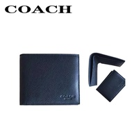กระเป๋าสตางค์ Coach แท้ F74974 / กระเป๋าสตางค์ผู้ชาย / กระเป๋าสตางค์ใบสั้น / กระเป๋าสตางค์หนัง