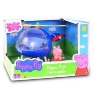 ☆玩具先生☆㊣佩佩豬 Peppa Pig粉紅豬小妹/佩佩直昇機組/佩佩蘇西戶外露營場景組(ST安全玩具) 出清價419