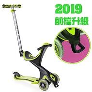 【2019前擋升級版】法國GLOBBER哥輪步兒童5合1三輪滑板車-綠色
