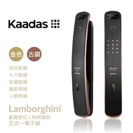 【凱迪仕Kaadas】藍寶堅尼傳奇 3D人臉辨識|指紋|卡片|密碼|鑰匙 5合一 AI智能電子鎖(含安裝)