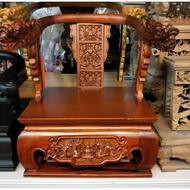 【靜福緣】精品實木雕刻 『8寸8神尊用雙龍椅(A款)』龍椅托椅脫椅請椅貼椅金尊貼椅佛椅貼座神明椅神椅