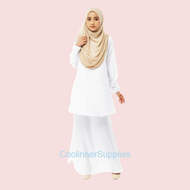 S-5XL Baju Kurung Moden Muslimah Plain Design Fashion Baru Aneka Warna Hingga Plus Size-Kain Lembut Sejuk Selesa Senang Gosok-Baju Raya 2021