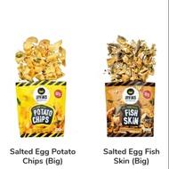 Salted Egg Potato Chips / Salted Egg Fish Skin