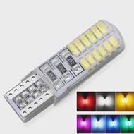 7สี24SMD T10 W5W รถ LED ไฟสัญญาณภายใน12V อัตโนมัติอ่านกระเป๋าเดินทางใบอนุญาต Wedge ที่จอดรถด้านข้าง