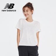 【New Balance】NB ICE X 涼感透氣短袖上衣_女性_白色_AWT01255WT