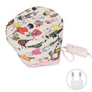 ผู้หญิงเครื่องอบไอน้ำผมหมวกเครื่องอบผ้าความร้อนหมวกรักษา Beauty SPA Nourishing ผมจัดแต่งทรงผมไฟฟ้าผมหมวกทำความร้อน US/EU Plug