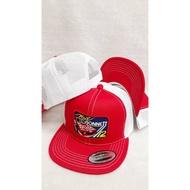 vintage cap bonnett car trucker snapback !! topi bonnett tag made in usa