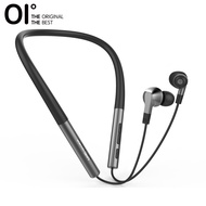 OI Necklace True Wireless Earphone Sports Earbuds Bluetooth 5.0 12H Playback 100% Silicon Neckband--Black