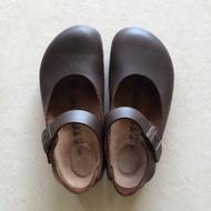 全新 Birkenstock Tatami Volga 德國勃肯 咖啡色真皮 娃娃鞋 35N