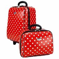 ร้านแนะนำWheal กระเป๋าเดินทางเซ็ทคู่ 18/14 นิ้ว Code 60018-3 B-Point (Red) กระเป๋าเดินทาง