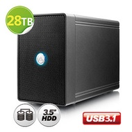 超值 28TB 磁碟陣列AKiTiO NT2 鐵甲威龍 U31C (IronWolf 14TB x 2) 3.5吋 - 2bay 磁碟陣列外接盒 USB3.1 Gen2 (USB-C)