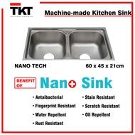 [Ready Stock] TKT-MS7642 SUS 304 Stainless Steel Kitchen Sink | Sink Bowl | Nano Tech Sink | Pillar Sink Tap | Water Tap | Kitchen Basin TKT Marketing