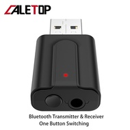 2 in 1 V5.0 Bluetooth Transmitter TV Bluetooth Receiver For Car Headphones Speakers HIFI Stereo USB