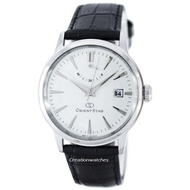 Orient Star Classic Automatic Power Reserve Men's Black Leather Strap Watch SAF02004W0