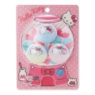 小禮堂 Hello Kitty 扭蛋殼造型塑膠夾子組《3入.粉白》塑膠夾.文具夾.造型夾
