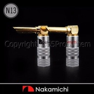 Nakamichi BFA Speaker Banana L Plugs (N13) บานาน่านากามิชิ 24K Gold plated 1คู่